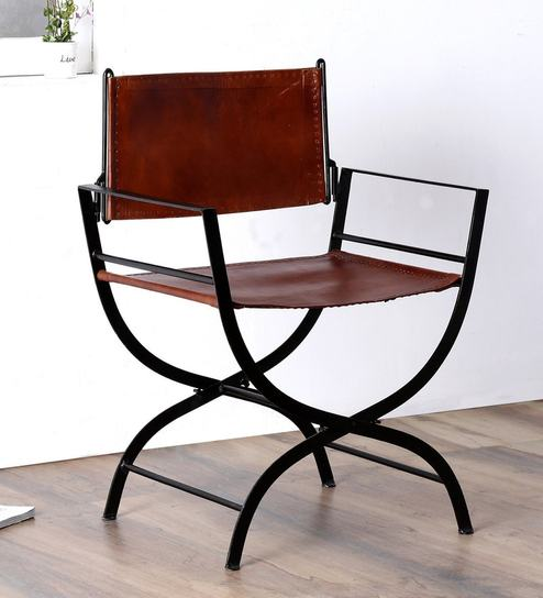 Buy Medina Metal Leather Chair By Bohemiana Online Outdoor