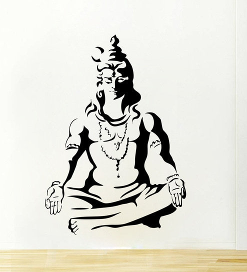 Buy Meditating Lord Shiva Wall Sticker & Decal by