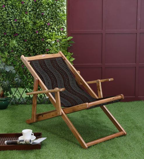 Megan Teakwood Outdoor Folding Chair By Aura