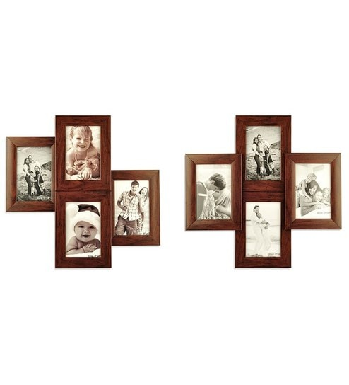 Mesa Decor Celestial Wall Wood Photo Frame Collage - Buy 1 Get 1 ...