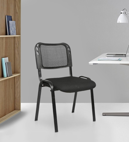Buy Mesh Fix Ergonomic Chair In Black Colour By Star India