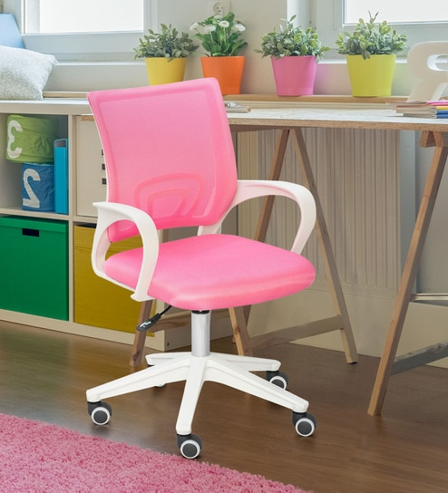 best sneakers 917e4 b3aa1 Mesh Study Chair in Pink by Alex Daisy