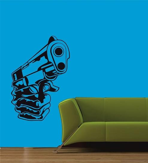 buy me sleep gun pvc durable & easy to use wall sticker online