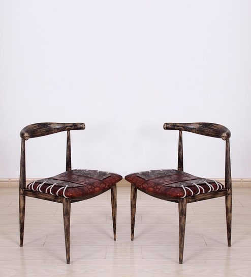 Sherman Metal Chair (Set Of 2) In Antique Bronze By Bohemiana