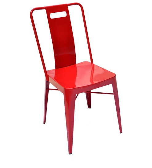 Outdoor metal chair Wicker We Are Sorry But This Item Is Out Of Stock Pepperfry Buy Pacific Chair In Signal Red Colour By Taamaa Online Metal