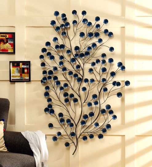 Buy Metallic Blue Iron Eve Wall Decor by Vedas Online - Metal Wall ...