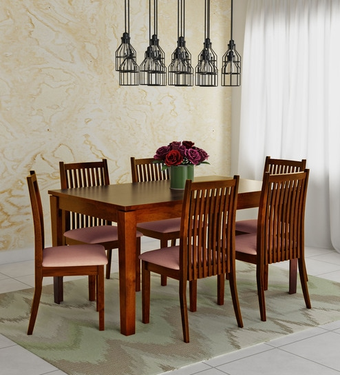 Buy Metro Six Seater Dining Set In Espresso Colour By Hometown