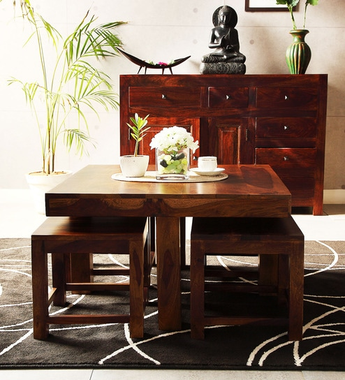 Elkhart Coffee Table Set In Provincial Teak Finish