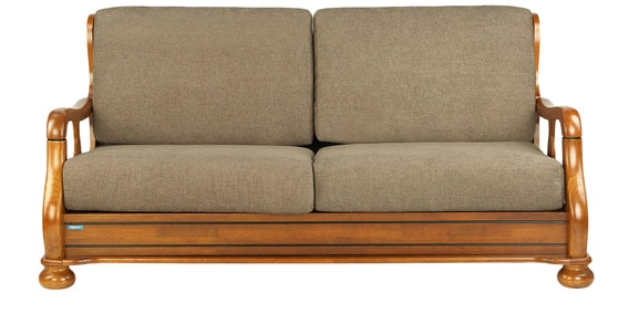 Buy melbourne three seater sofa in wenge finish by nilkamal online sofa sets sofas pepperfry Godrej interio home furniture price list
