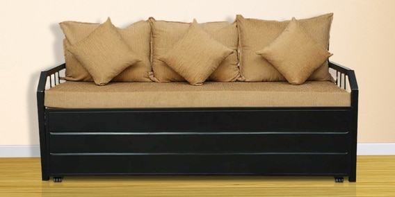 Metal Sofa Bed With Hydraulic Storage By Diamond Interiors