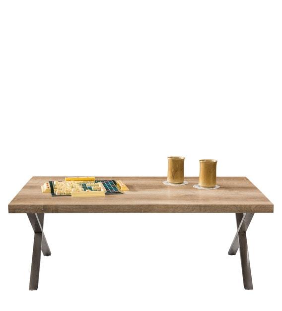 Buy Melvin Center Table Metallic Cross Legs by Durian ...