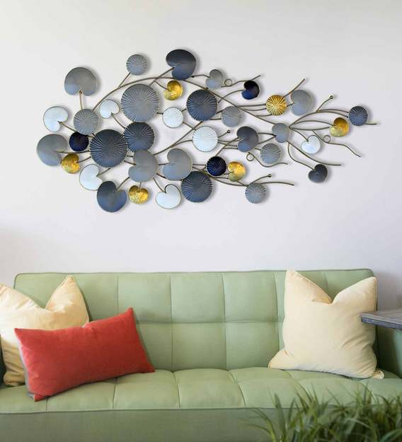 Buy Metal Wall Art In Grey By Craftter Online - Abstract Metal Art - Metal  Wall Art - Home Decor - Pepperfry Product