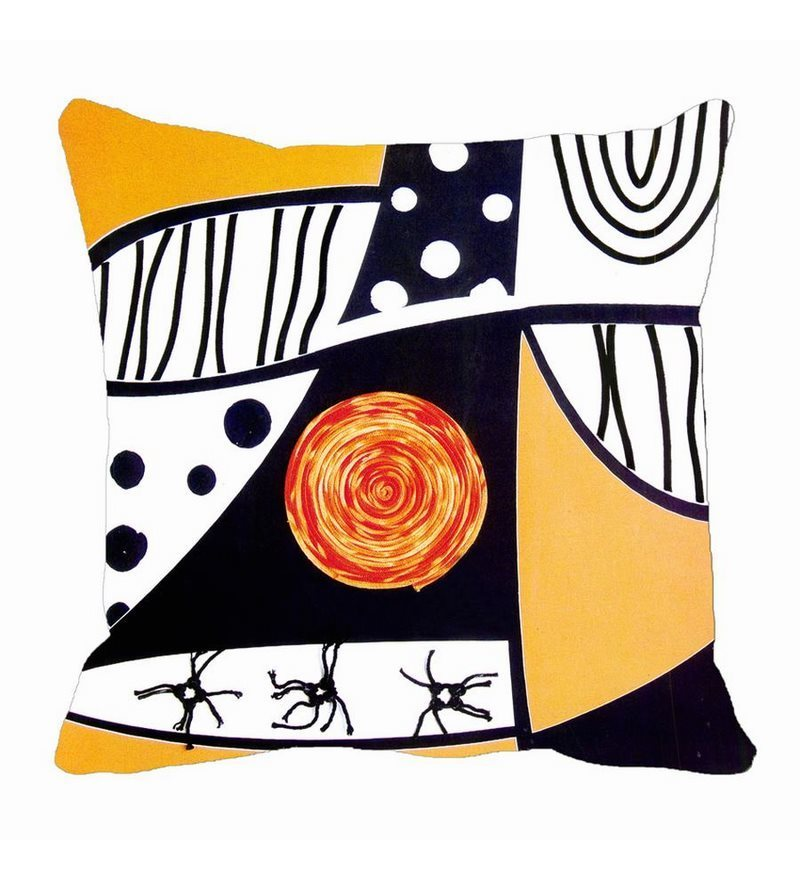 Black Satin 16 x 16 Inch Cushion Cover by Me Sleep