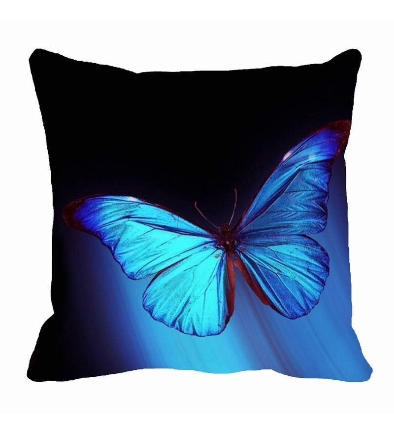 Blue Microfibre 16 x 16 Inch Cushion Cover by Me Sleep