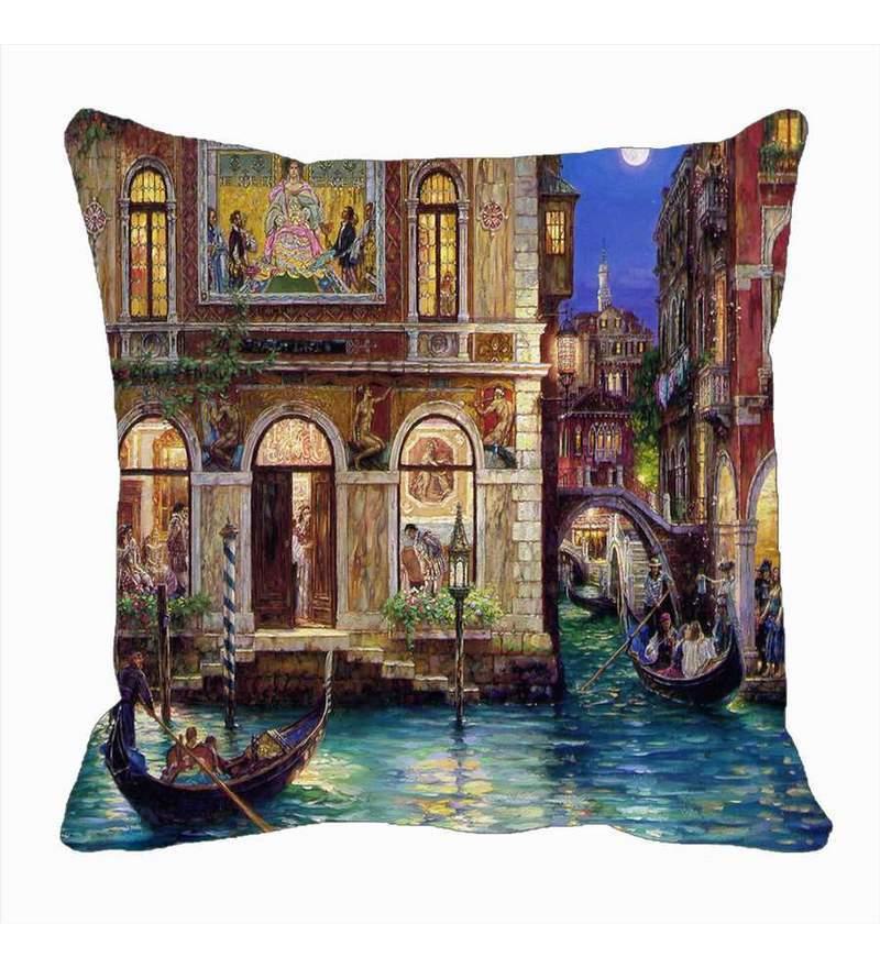 Brown Satin 16 x 16 Inch Cushion Cover by Me Sleep