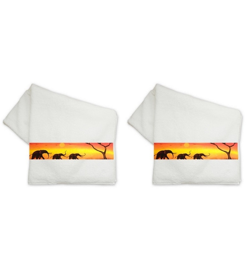 Whites Cotton 14 X 24 Hand Towels - Set of 2 by Me Sleep