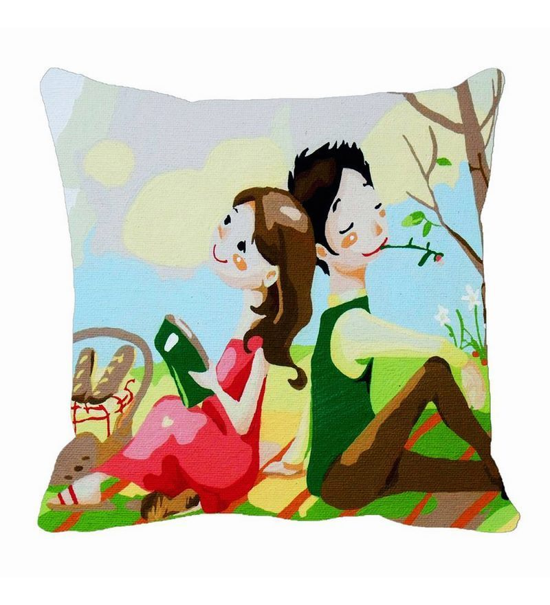 Green Satin 16 x 16 Inch Cushion Cover by Me Sleep