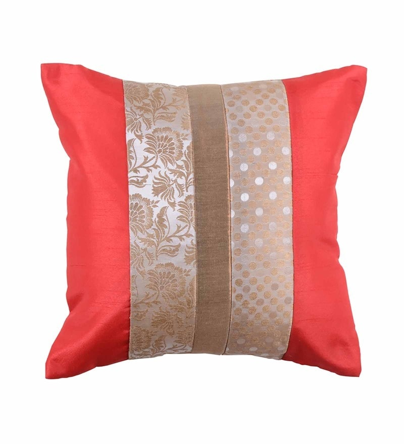 Multicolor Brocade 16 x 16 Inch Cushion Cover by Me Sleep