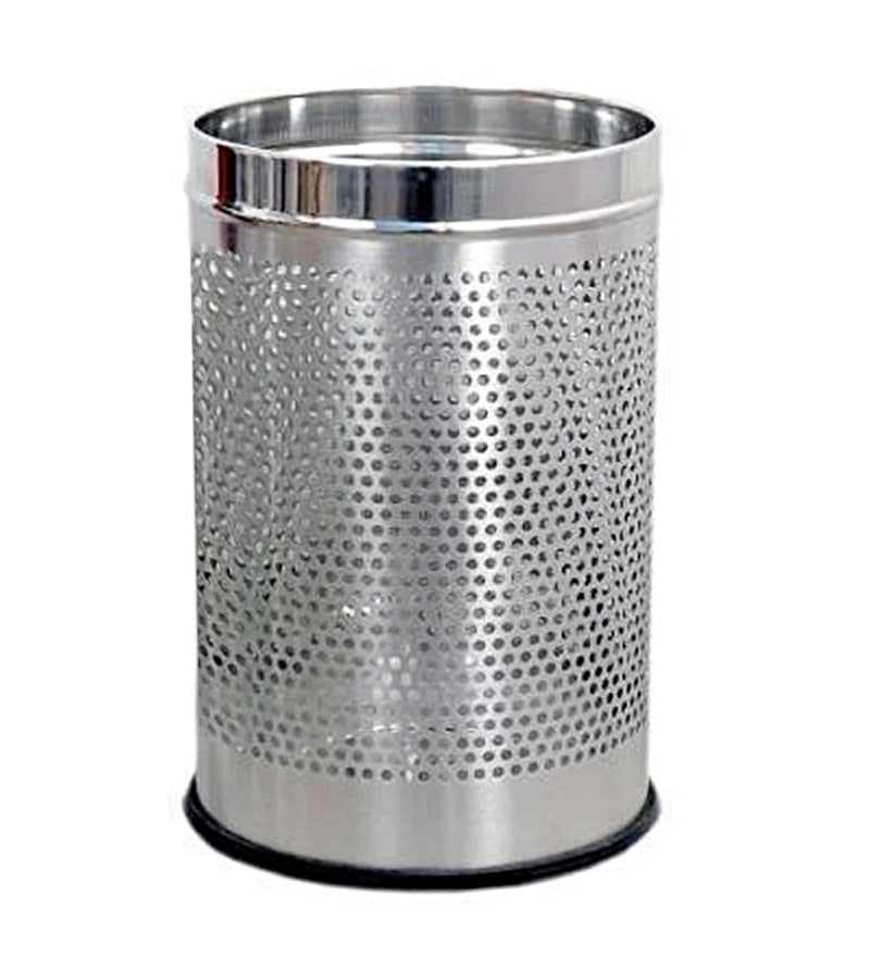 Meded Perforated Stainless Steel 5 L Open Dustbin