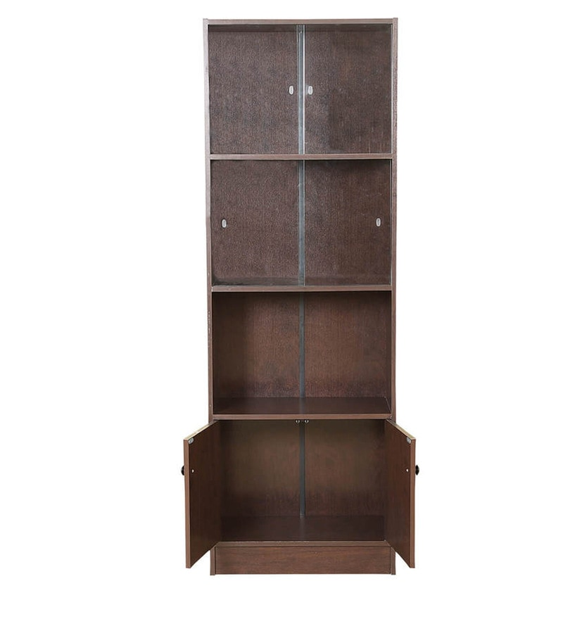 Bookshelves Buy: Buy Lara Bookcase Cum Display Unit In Wenge Finish By
