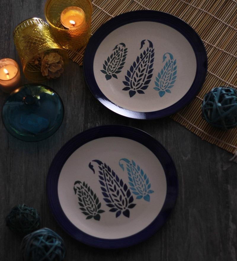 Meraki by Sonal Ceramic Dinner Plates - Set of 4