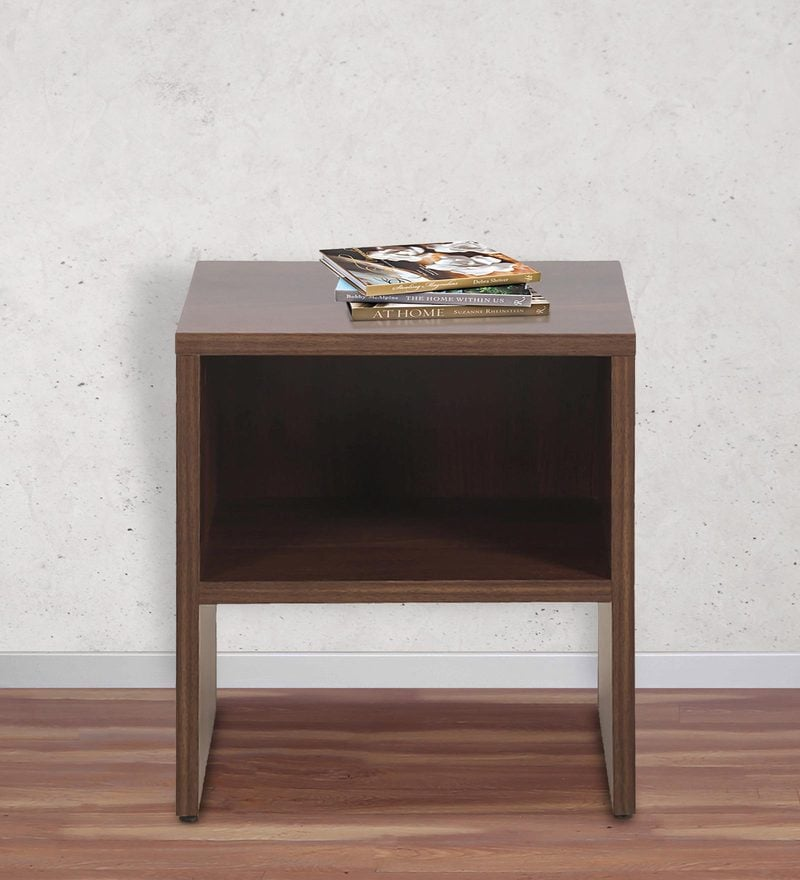 Mercury End Table in Walnut Finish by Crystal Furnitech