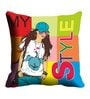 Me Sleep Green Microfibre 16 x 16 Inch Cushion Covers - Set of 2
