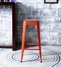 Mehia Bar Stool in Orange Colour by Bohemiana
