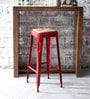 Mehia Bar Stool in Red Colour by Bohemiana