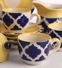 Meraki By Sonal Umrao Ceramic Tea Set - Set Of 15