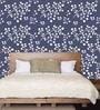 Me Sleep Blue PVC Floral Wallpaper
