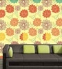 Yellow PVC Sunflower Print Wallpaper by Me Sleep