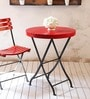 Mexico Folding Round Table in Red Color by Woodsworth