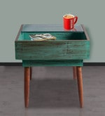 Mint Distressed Upcycled Drawer Table