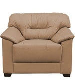 Mirly One Seater Sofa in Light Borwn Colour