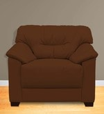 Mirly One Seater Sofa in Brown Color