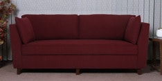 Miranda Three Seater Sofa in Garnet Red Colour