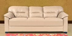 Mirly Three Seater Sofa in Cream Color