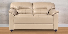Mirly Two Seater Sofa in Cream Color