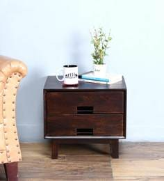 Milton Bed Side Table In Warm Chestnut Finish