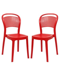 Miracle Outdoor Chair Set Of 2 In Red Colour