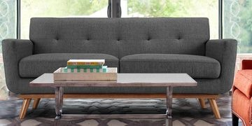 Mid-Century Classic Three Seater Sofa In Grey Colour