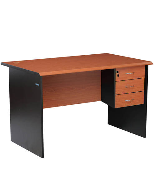 Buy Milford Three Drawer Office Table By Nilkamal Online