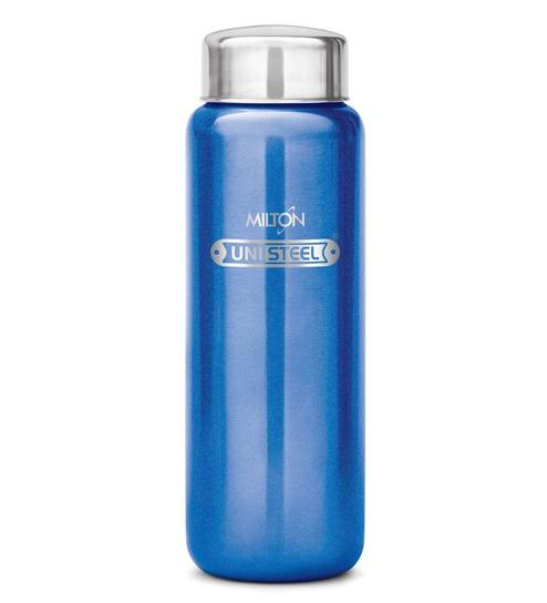 Milton Aqua 750 Ml Blue Stainless Steel Fridge Water Bottle