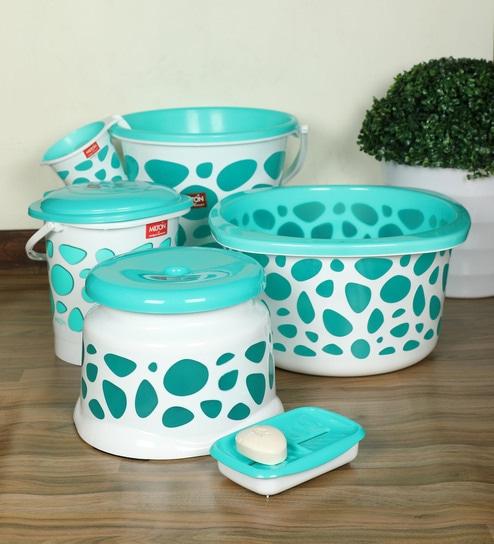 Milton Duplex Spa Green Bathroom Set Of 6