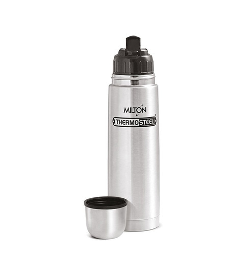 caa7ddd72df Buy Silver Stainless Steel 500 ML Flask Online - Flasks   Thermos ...