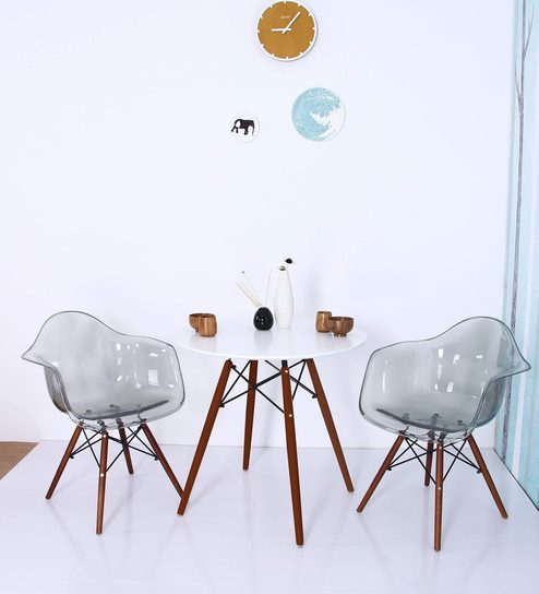 Buy mineko accent dsw eames replica plastic chair set of for Plastic side chair replica