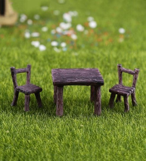 Surprising Miniature Wooden Garden Bench And Table By Aapno Rajasthan Alphanode Cool Chair Designs And Ideas Alphanodeonline