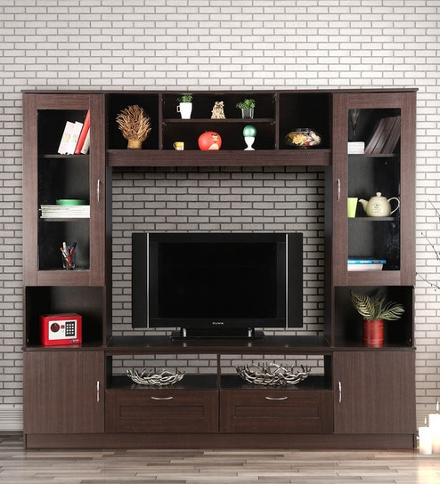 Buy Missouri Wall TV Unit in Walnut By HomeTown Online - Modern TV ...