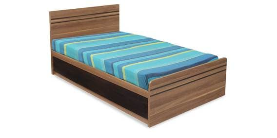 Buy Mike Single Bed With Storage In Light Walnut Finish By Home Online Single Beds Beds Furniture Pepperfry Product
